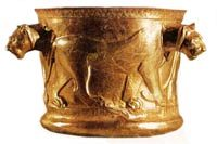 جام طلایی کلاردشت در موزه ملی ایران
